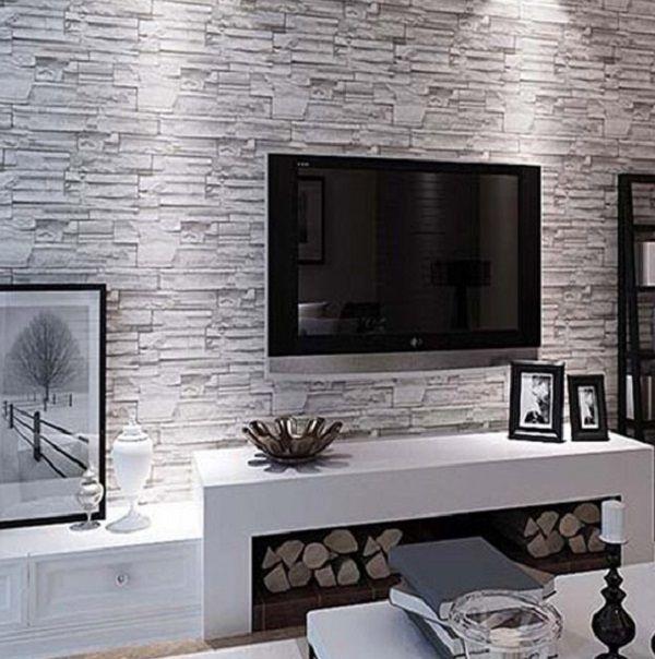 50 Inspirational Tv Wall Ideas Cuded Brick Wallpaper Living Room Wallpaper Living Room Best Living Room Wallpaper