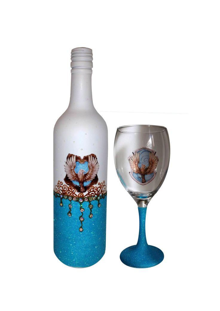 17 best images about diy glasses on pinterest set of for Wine bottle glasses diy