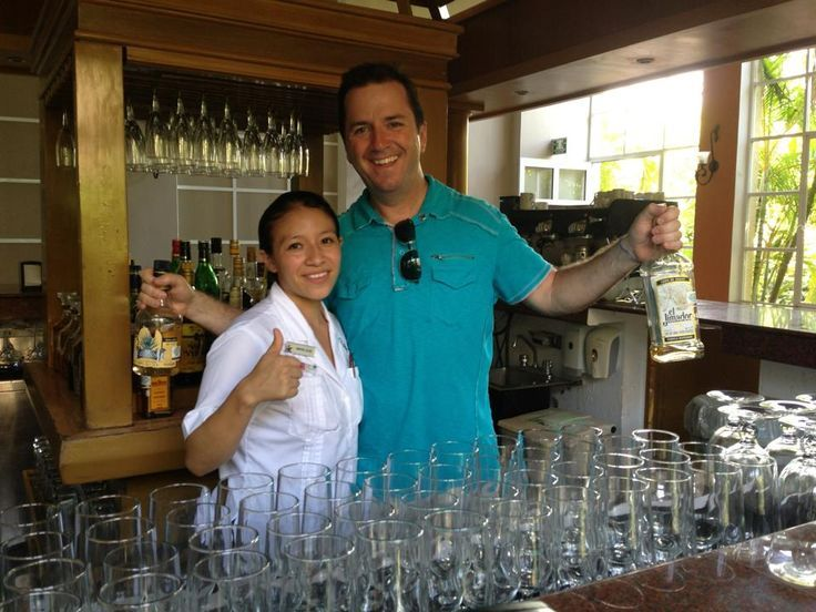 Tom Carr bar tending at the all inclusive Catalonia Royal Tulum! A hidden gem for adults-only looking for a moderately priced hotel that's fully inclusive!