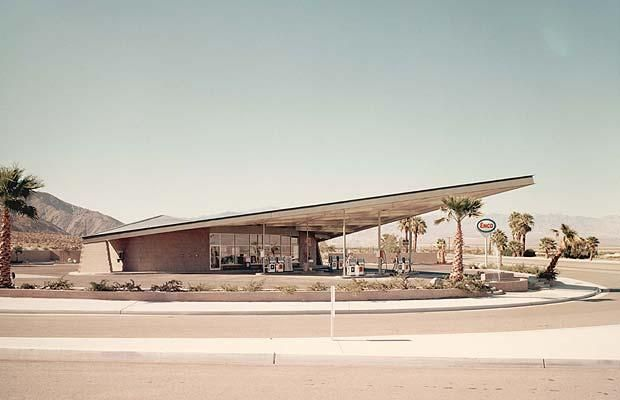 The Albert Frey-designed Tramway Gas Station (1963) in Palm Springs, CA