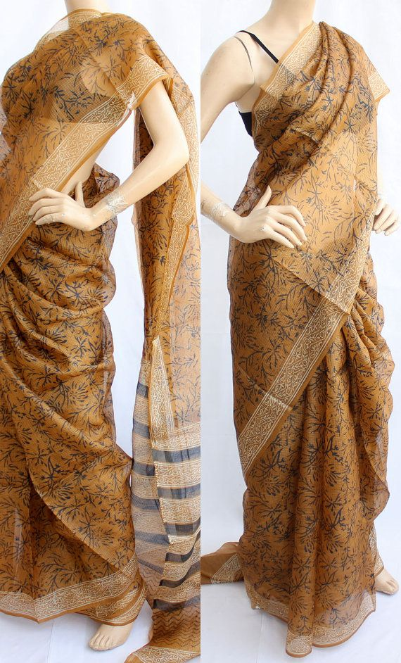 Get traditional yet sophisticated with this beautiful kota silk saree.
