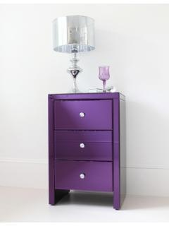 Purple bedside table, or just a little chest of drawers in purple of course