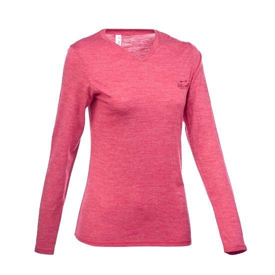 T-shirt manches longues trekking Techwool 155 laine femme - 1222272