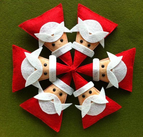 Triangle santas
