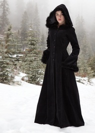 Long hooded coat from The Dark Angel.  This is what I NEED to be wearing in flagstaff... scare the hipies and whatnot :)