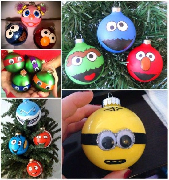 These Character Christmas Tree Ornaments are an easy fun idea that you'll love making!