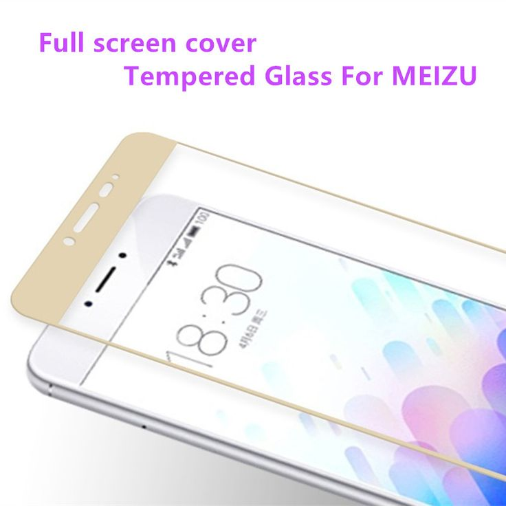 Full screen cover Tempered Glass For Meizu M3 Note 3 M3 mini Pro 5 Metal Screen Protector Printing Protective Film *** Details on product can be viewed by clicking the VISIT button