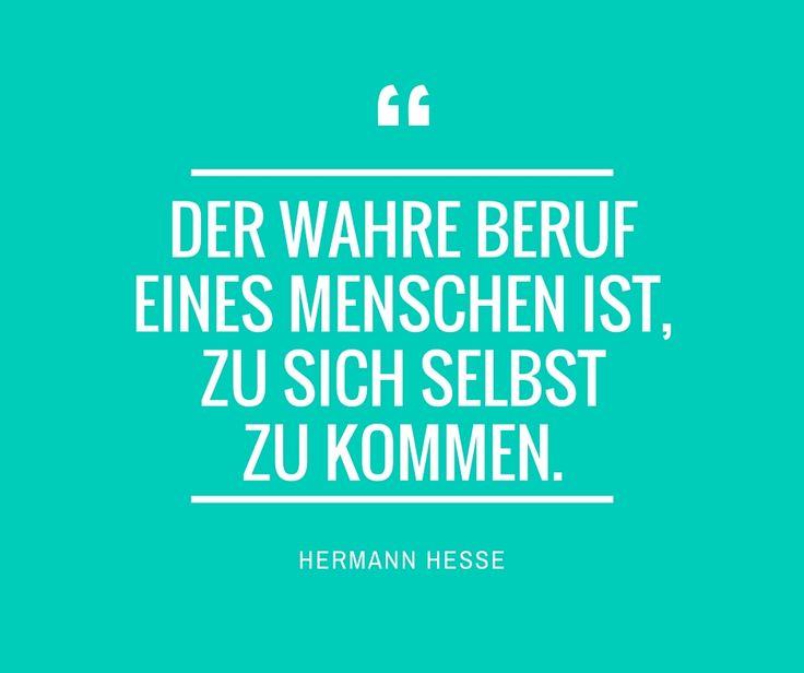 Der wahre Beruf eines Menschen ist, zu sich selbst zu kommen. -Hermann Hesse-