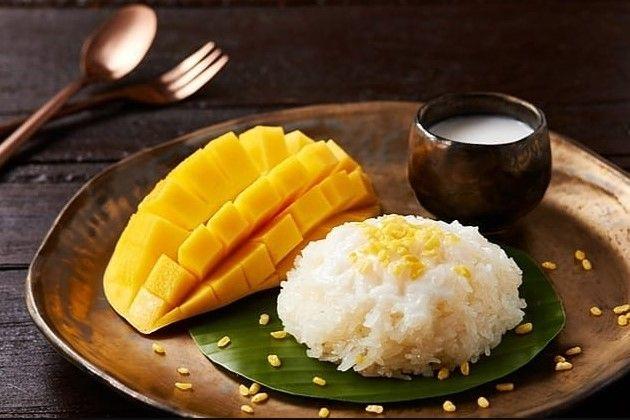 Resep Mango Sticky Rice Dan Cara Membuat Ketan Mangga Ala Thailand Lengkap Bahan Bikin Khao Niao Mamuang Serta Cara Mengolah Mango Resep Sarapan Makanan Resep
