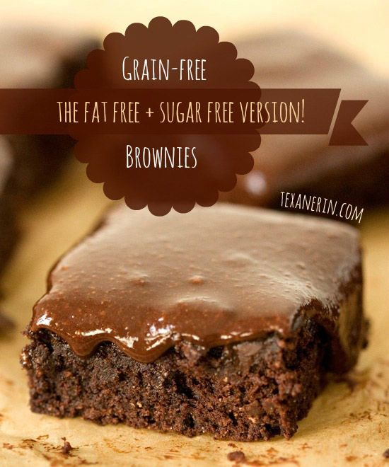 Grain-free and dairy-free fudge brownies – this version has no added fat!