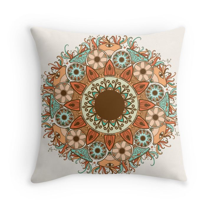 """""""Ornamental round lace pattern.Delicate circle."""" Throw Pillows by smotrivnebo   Redbubble"""