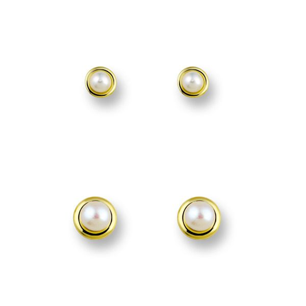 Huiscollectie 4016190 Gouden parel oorbellen