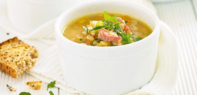 Ham hock and winter vegetable soup - New Zealand Womans Weekly