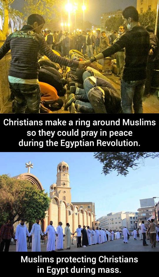 This is what Christianity is about.  This (to my understanding) is what Islam is about: Reflecting the Love of God, demonstrating  ministering the love of God to a fallen world that others may see Him through us, His unworthy servants.