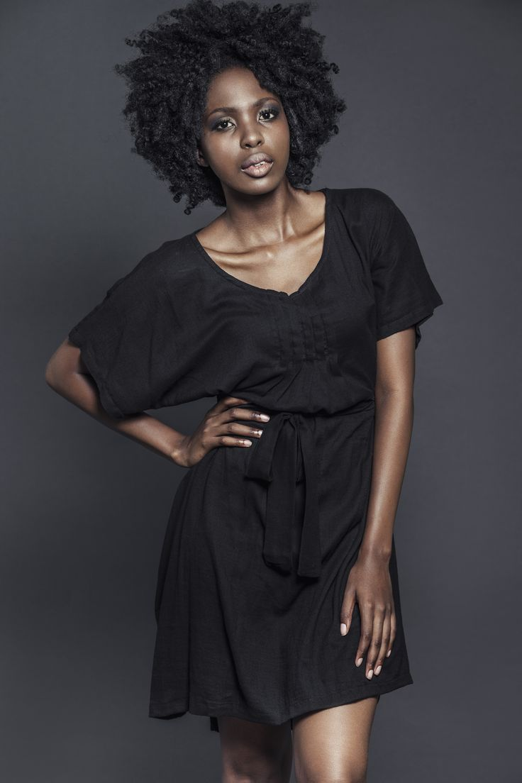 Ladies 100% cotton gauze black pin-tuck dress with tie. For more information visit: https://www.facebook.com/pengellyclothing or https://www.pengelly.co.za