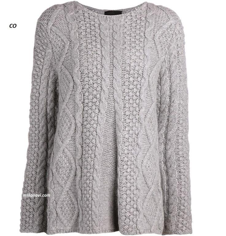 Вязаный свитер спицами от СО