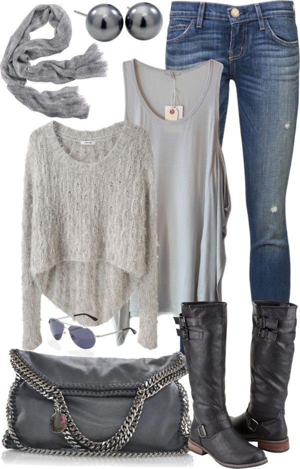 Love all the different shades of gray put together