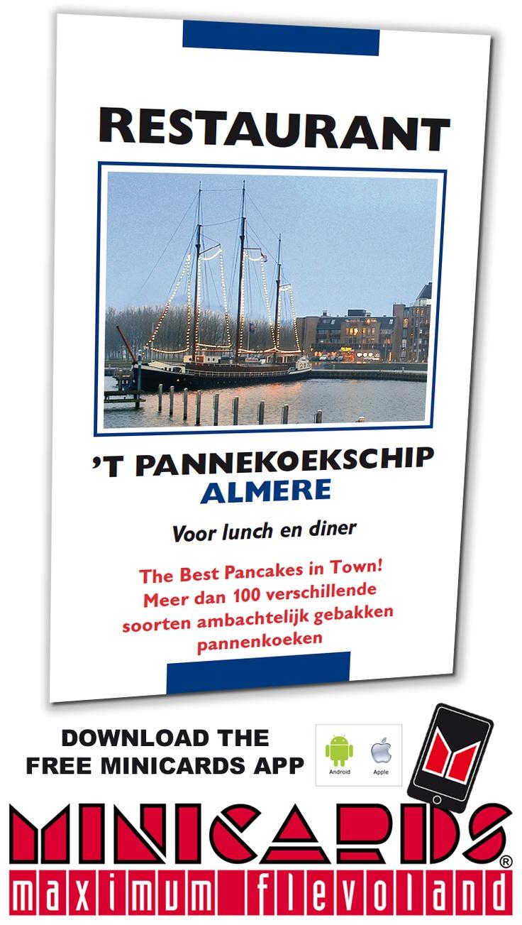 Pannekoekenschip Almere  op een Minicard