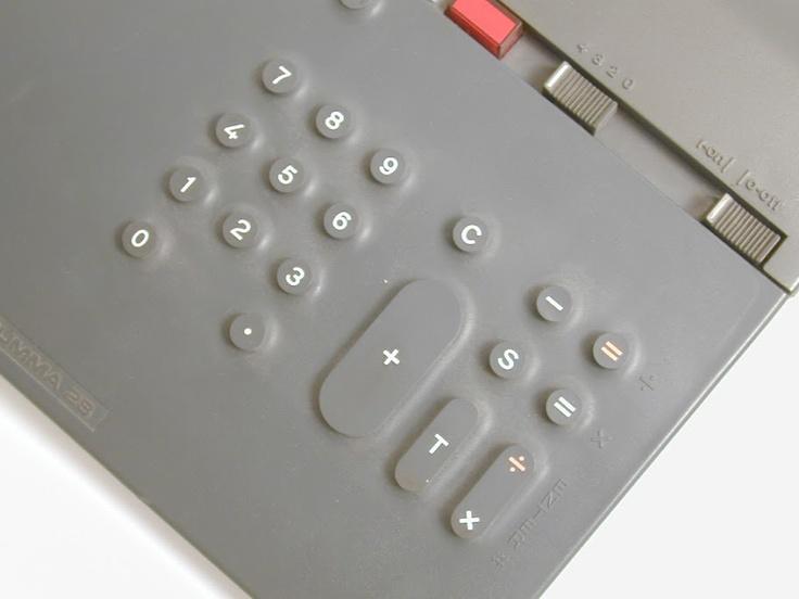 Olivetti Divisumma 28 calcolatrice da tavolo Mario Bellini 1973