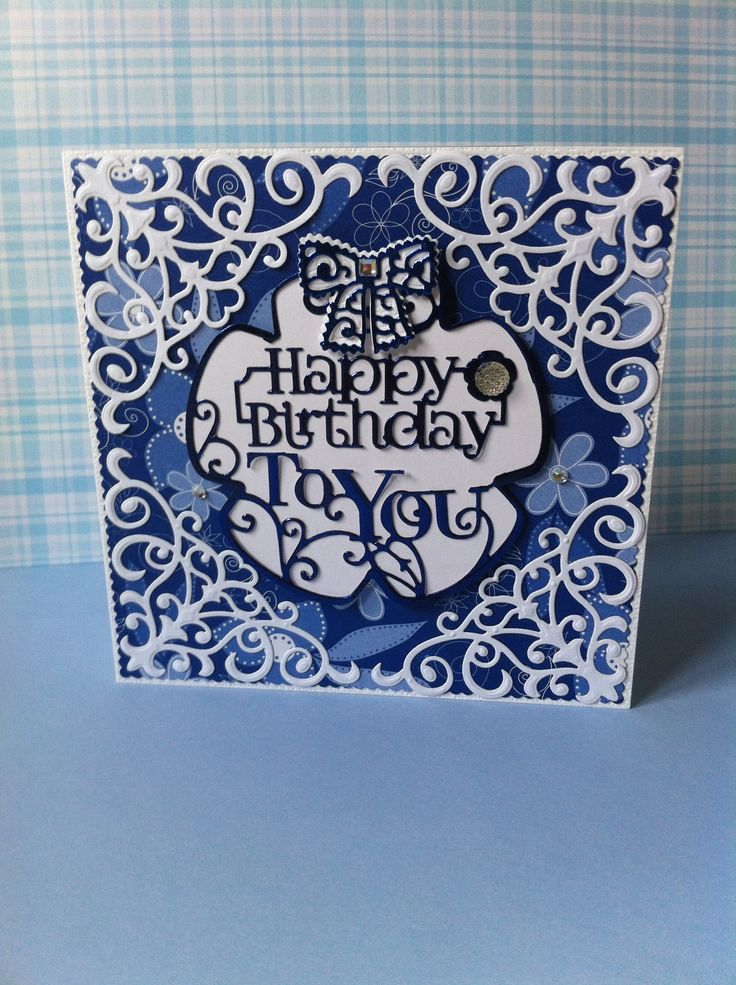 Tonic Pansy topper set, Corners Spellbinders D-Lites S2-050, Bow Tattered Lace.
