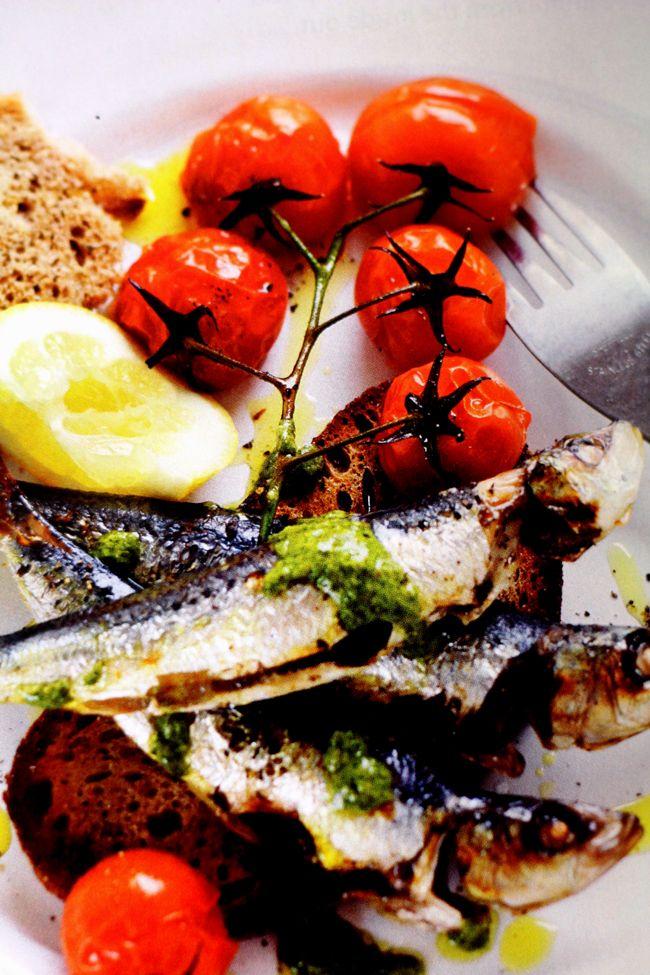 Summer BBQ sardines with salsa verde – by guest expert Karen Kingham APD