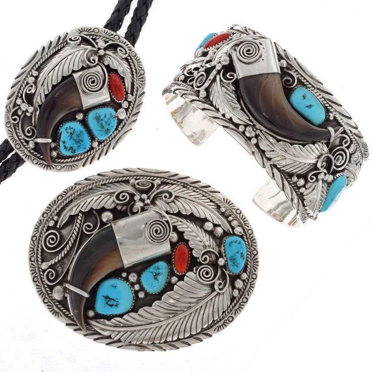 Native american bear symbol jewelry