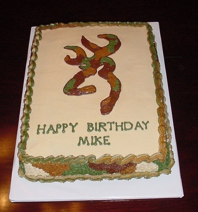 This is the browning logo in camo theme all buttercream