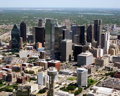 Downtown Dallas - nice aerial view :)