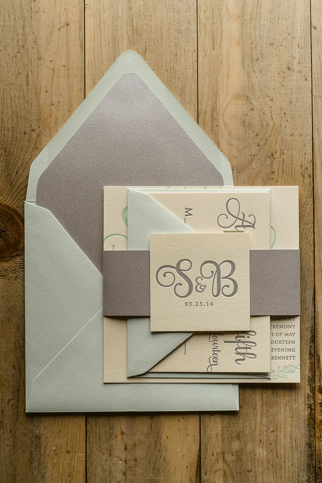 ADELE Suite Romantic Package // seafoam, sea glass, ecru, silver, beach wedding invitations // letterpress wedding invitations // elegant wedding invitations, http://justinviteme.com/collections/styled-collections/products/adele-suite-styled-romantic-package