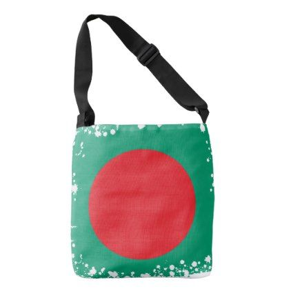 Abstract Bangladesh Flag Bangladech Colors Bag - red gifts color style cyo diy personalize unique