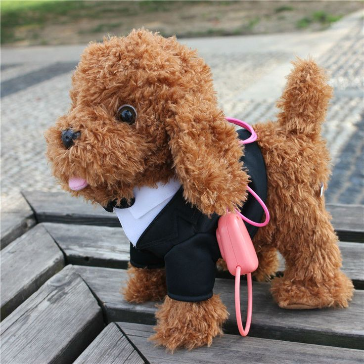 Walking Musical Robot Dog Interactive Electric Pets Plush Toys Outdoor Fun Doll Baby toy Gifts for kids 4 colors