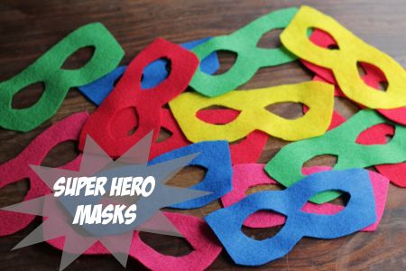 Easy Superhero Masks and Capes!