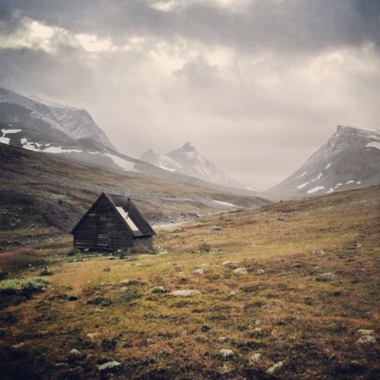 Be too stubborn to give up on your dreams.   We are.  #cabindreaming  Hiker's Cabin in Kungsleden, Sweden.