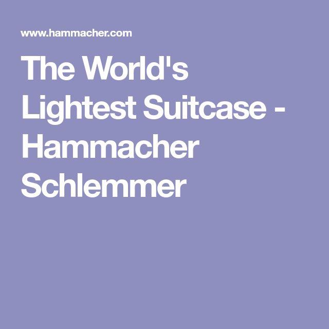 The World's Lightest Suitcase - Hammacher Schlemmer