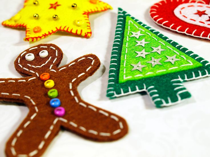 Ozdoby z filcu ręcznie robione - Boże Narodzenie w Siedlisku na Wygonie