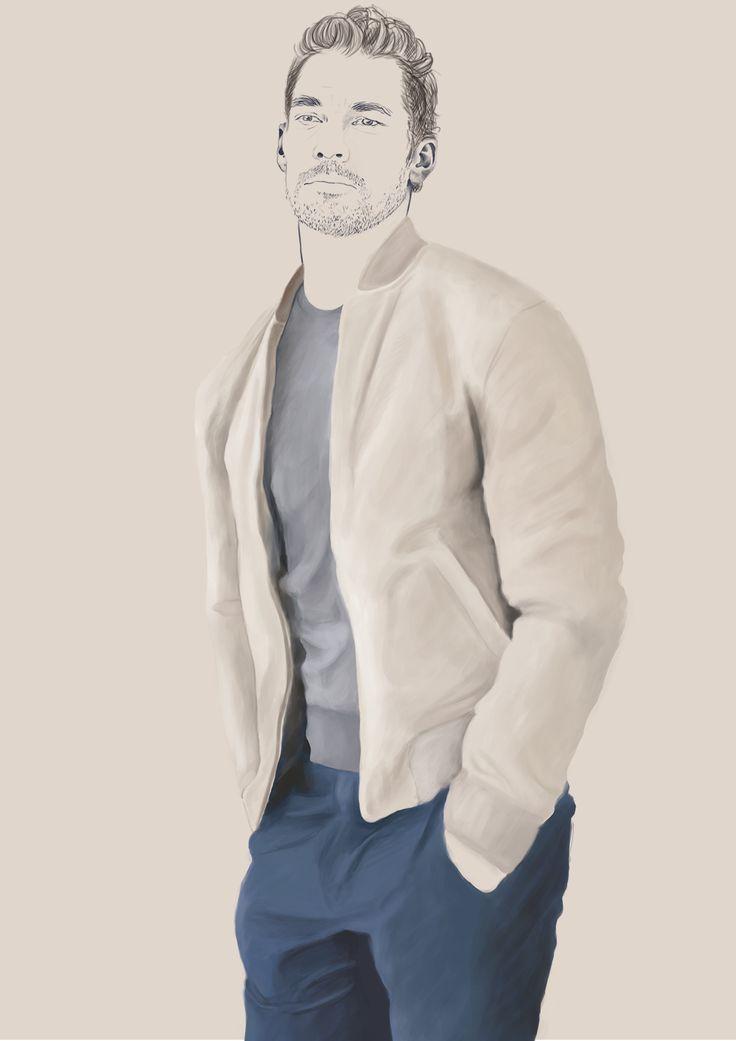 David Gandy - fashion illustration