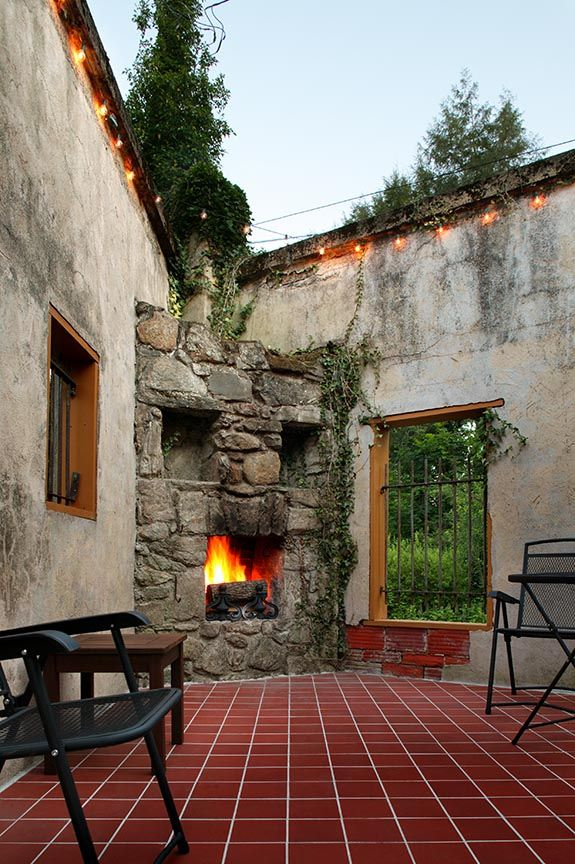 284 best images about the hearth a for Spanish outdoor fireplace