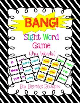 FRY SIGHT WORD GAME!This bundle includes three games. Fry Words 1-100, Fry Words 101-200 and Fry Words 201-300. Each game is color coded to help you stay organized. There is also a label included for each Game that is letter size and note card size so they are easy to store and locate!Learn sight words with this engaging and fun sight word game!
