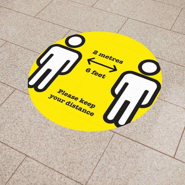 Buy social distancing vinyl floor stickers online. Keep