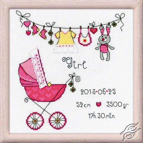 It's a Girl! - Cross Stitch Kits by RIOLIS - 1417