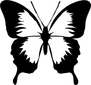 black and white butterfly tattoos for women | Butterfly clip art - vector clip art online, royalty free & public ...