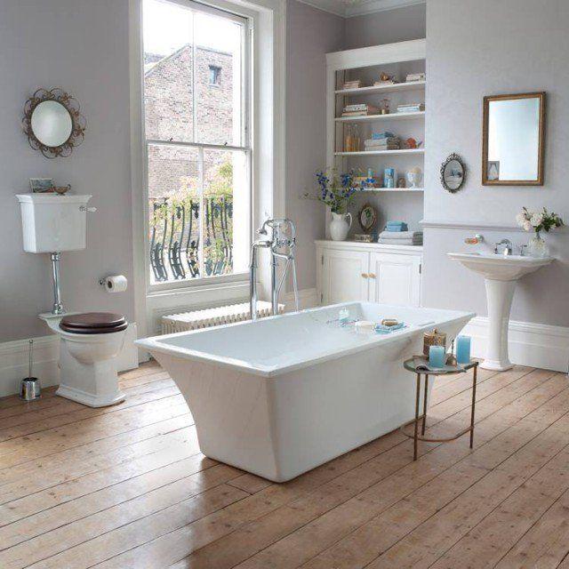 design salle de bains touches shabby chic romantiques