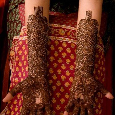 Rajasthani Mehndi Designs for Hands Bridal 1