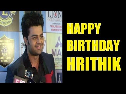 Manish Paul wishes HAPPY BIRTHDAY to Hrithik Roshan.