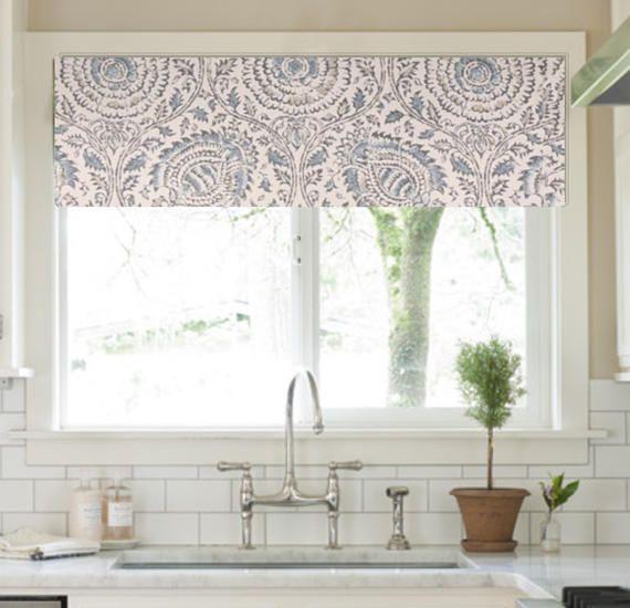 Flat Window Valance In Beautiful Kravet High End Linen Fabric