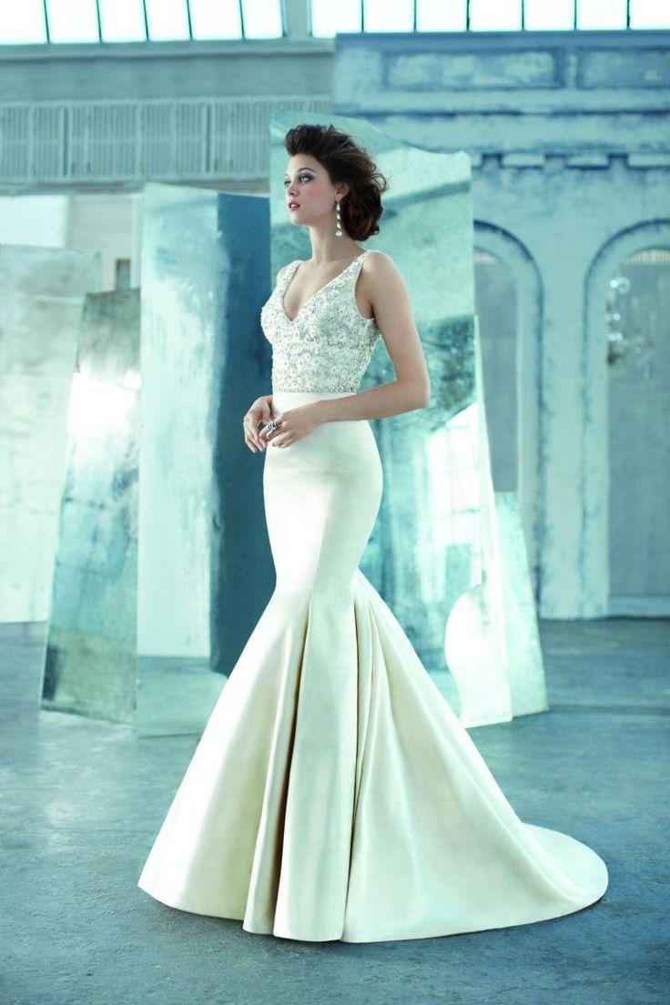 Lazaro Satin Mermaid Wedding Dresses | Dress images