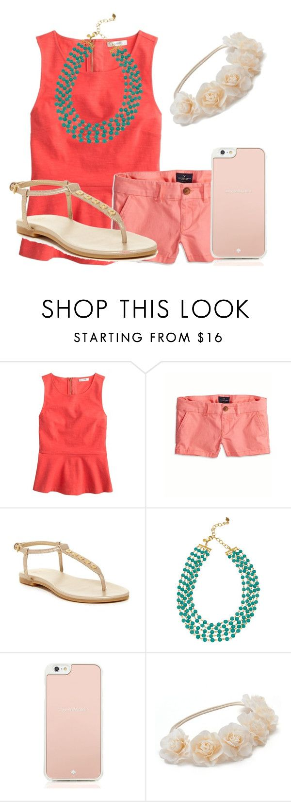 """My boyfriend asked me to sing to him "" by sarahs2734 ❤ liked on Polyvore featuring moda, J.Crew, American Eagle Outfitters, Cole Haan, David Aubrey, Kate Spade e Mudd"
