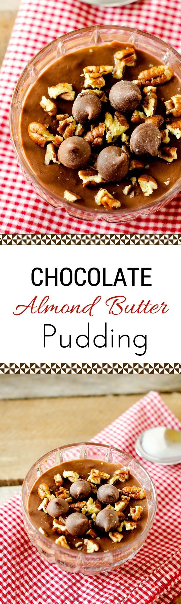 Chocolate Almond Butter Pudding - This rich and delicious healthy dessert recipe is one you will feel good about giving your family. @divinechocolate #sponsored