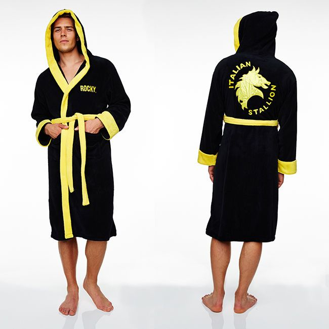 Rocky Dressing Gown Fleece Mens Bathrobe Bath Robe