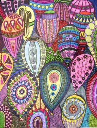Título: ¿Y si me voy? Autor: Aurora Luna Walss Dimensiones: 49 X 69 cm Técnica: Sharpies sobre papel